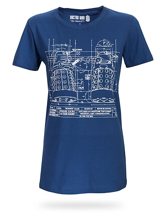 Dalek Blueprint Tee from Her Universe available at ThinkGeek