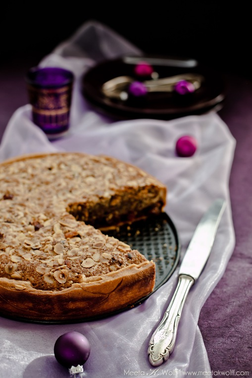Quince Hazelnut Mincemeat Frangipane Tart (0063) by Meeta K. Wolff