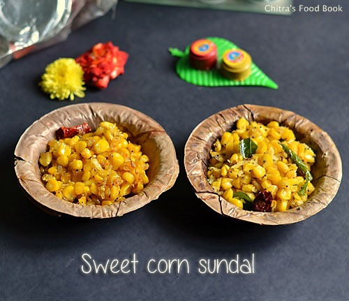 Sweet corn sundal recipe - 2 verisons