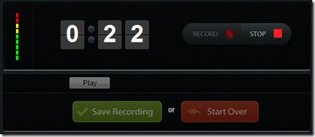 Recordmp3.org Pannello di registrazione
