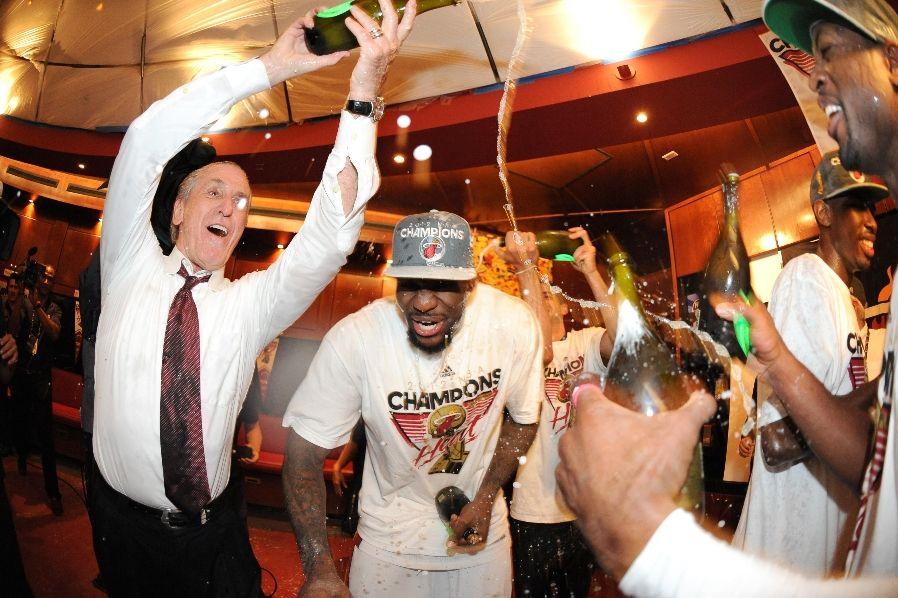 Gallery Finals MVP LeBron James Trophy Media Photo Shoot