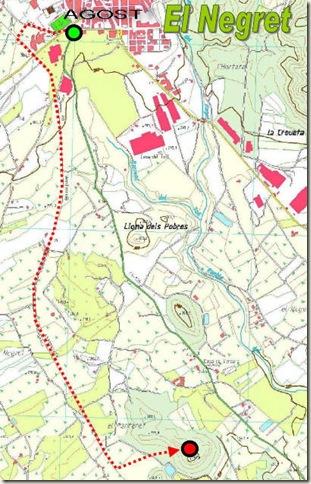 Mapa poblado de la Edad del Bronce de El Negret - Agost