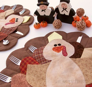 turkey placemat tutorial