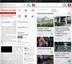 Opera 14 Mobile su Android