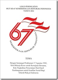 Logo HUT RI 67 Tema