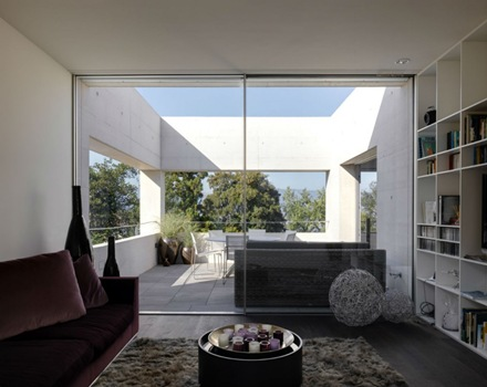 Casa en lago zurich suiza de sam architekten und partner for Modernes haus zurich