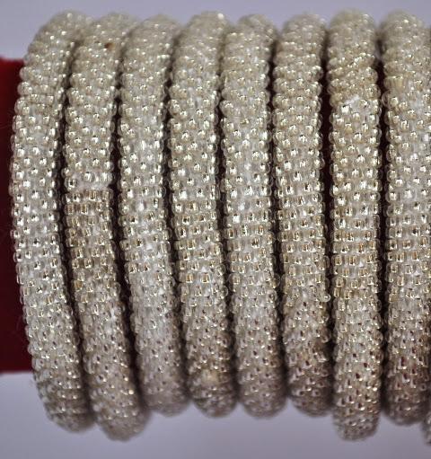 Rollover Silver Bead Bracelets