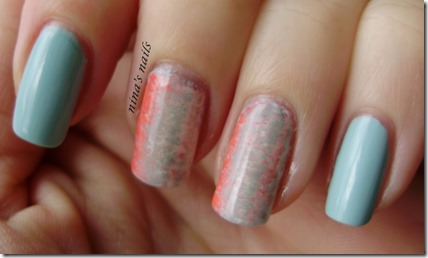Essence that's what i mint   fan brush nail art