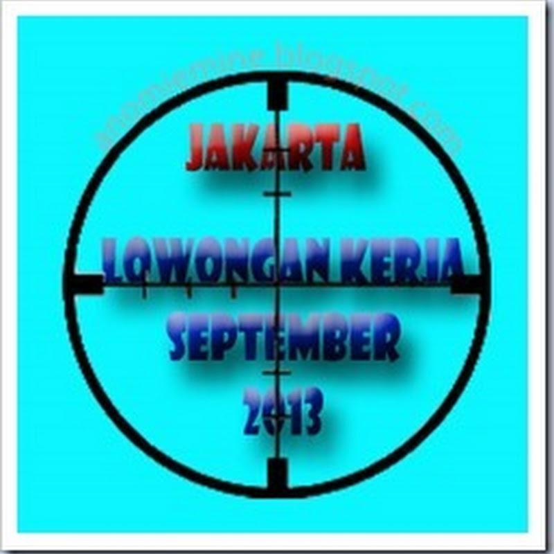 Lowongan Kerja Jakarta Terbaru September 2013