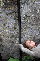 Dani after kissing the Blarney Stone