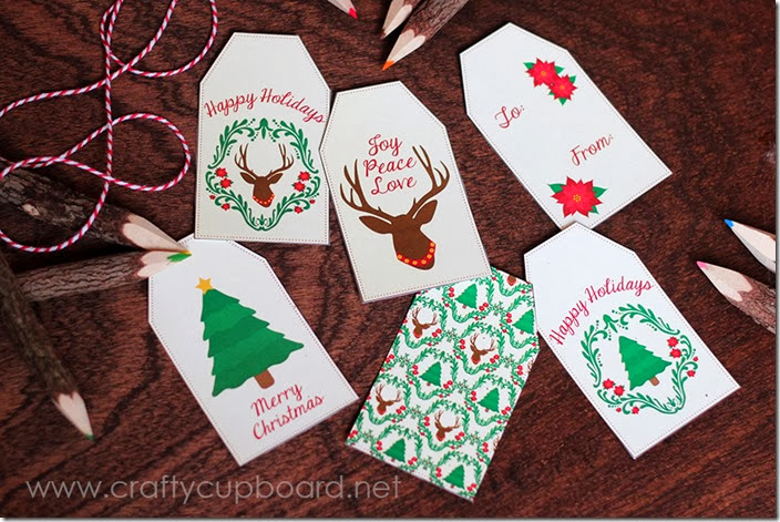 Damask Deer Printable Gift Tags by The Crafty Cupboard
