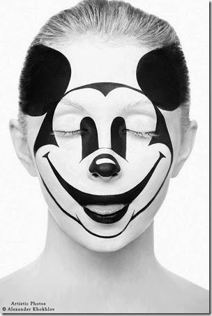 maquillaje de mockey mouse