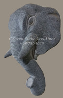 Elephant Corbel, 4x9xH10, Charcoal Grey Granite
