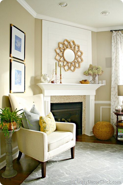 starburst mirror fireplace