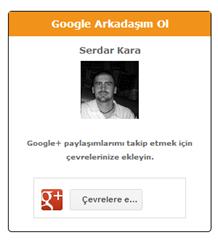 Google+ Eklentisi