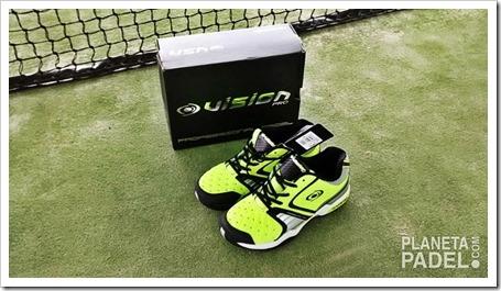 Análisis Zapatillas pádel VISION pro V60115 Color Verde/Lima suela mixta 1