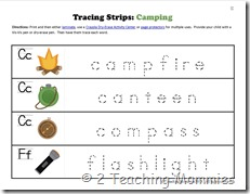 K Tracing Strips Camping