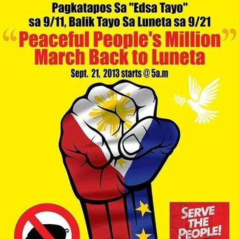 Million People's March on Luneta Sept 21