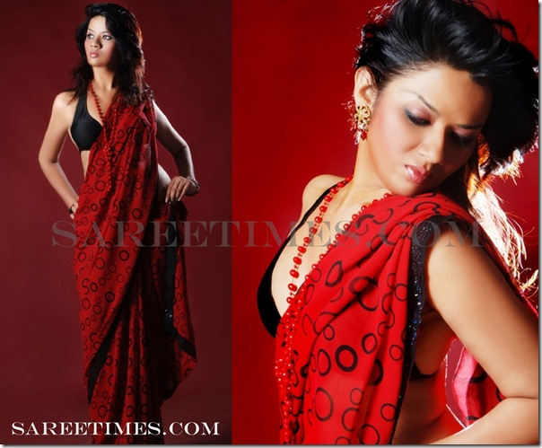 Shika_Thakur_Red_Saree