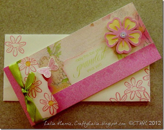 Art Philosophy Lucy Workshop on the Go Die Cut Card with Ready Color Seam Binding Ribbon Close to My Heart