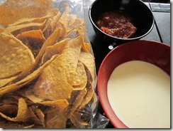 nachos, homemade salsa and sour cream, 240baon