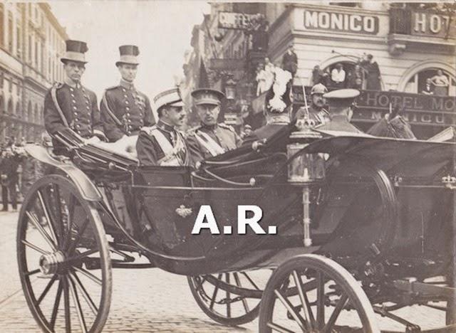 Fotografía antigua Alfonso XIII viaje a Bruselas