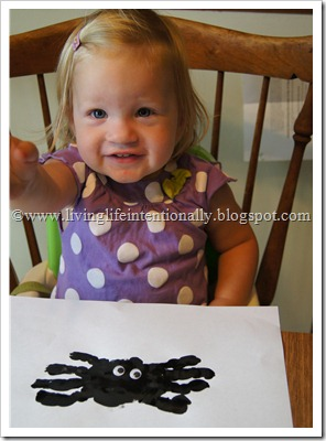 Spider Hand Art for Toddlers