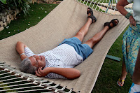 Martyn in the hammock