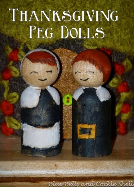 DIY Tutorial - Thanksgiving Peg Dolls | From Blue Bells and Cockle Shells