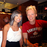 natalie & matt having dinner at Afterglow in Vancouver, British Columbia, Canada