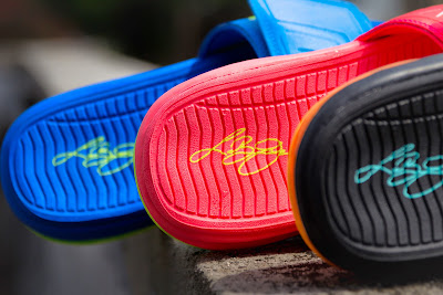 nike air lebron slide 3 summer 1 17 Nike Air LeBron Slide 3 Elite   Sprite, Peach & Hyper Punch
