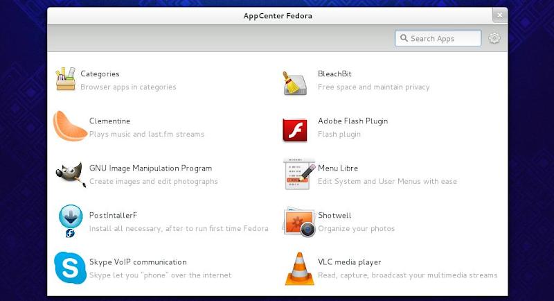 Appcenter fedora il nuovo software center di terze parti for Software di progettazione domestica moderna