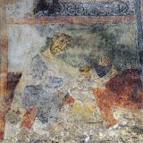 Sant Climent de Taüll, Caïm matant Abel, 1123 (Foto I. Lorés)