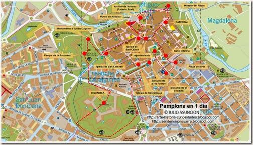 Mapa Pamplona en 1 día