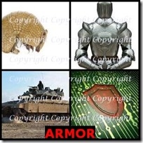 ARMOR- 4 Pics 1 Word Answers 3 Letters
