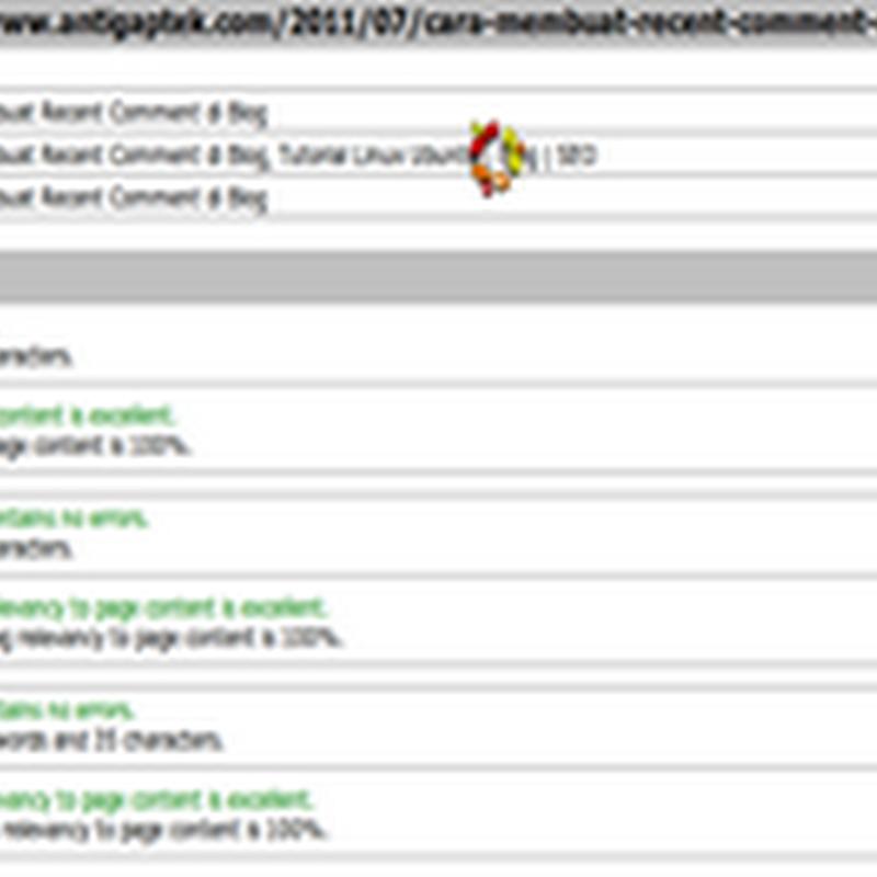 Cara Memasang Meta Tag Otomatis pada artikel di Blog