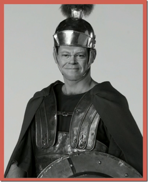 Dennis Brimhall visits a Discovery Center and, just for fun, dresses up like a Roman soldier