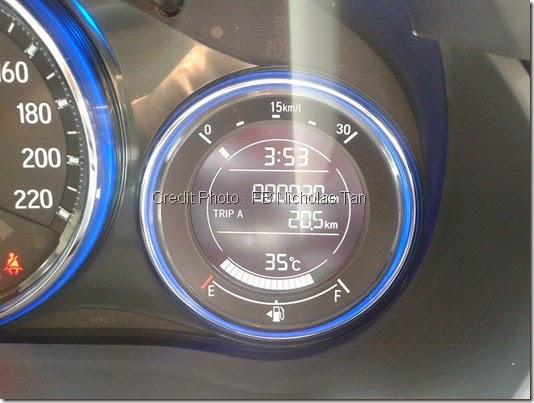 Meter minyak Honda city 2014
