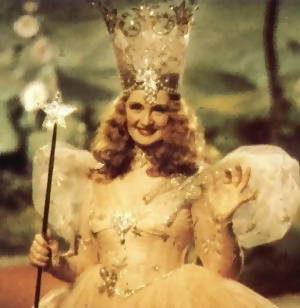 The crown of Glinda -- the good witch from Wizard of Oz -- was our inspiration for the candy crown.