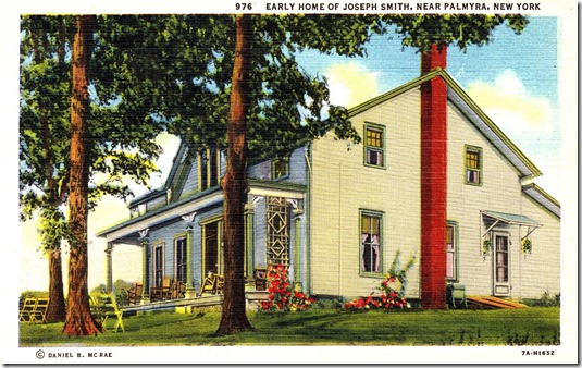 Early Home of Joseph Smith near Palmyra, New York Postcard pg. 1