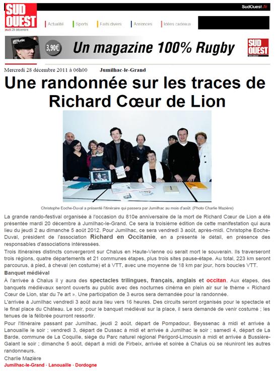zèro Randolejada per Ricard Còr de Leon