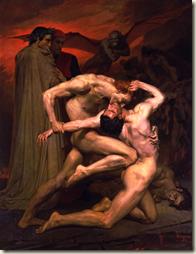 William Bouguereau, Dante et Virgile, 1850, huile sur toile, 281 x 225 cm, Musée d'Orsay,