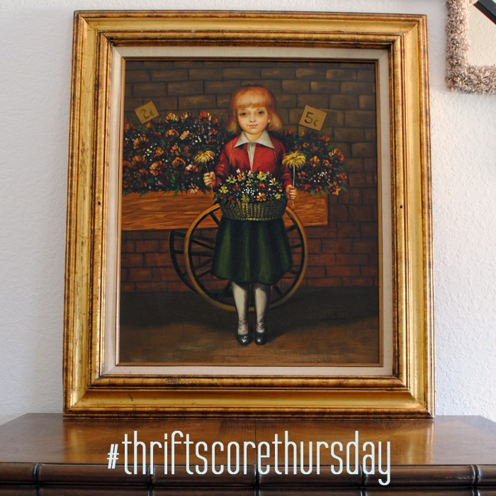 thrift score thursday girl painting