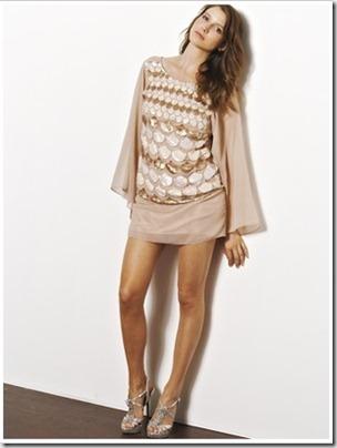Love label vintage style sequin maxi dress
