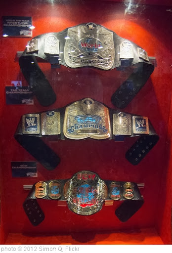'WWE Fan Axxess - Championship Title belts' photo (c) 2012, Simon Q - license: http://creativecommons.org/licenses/by/2.0/