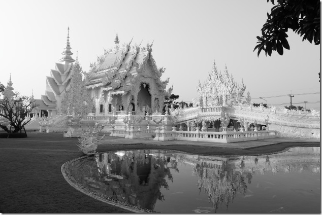 White Temple in monochrome