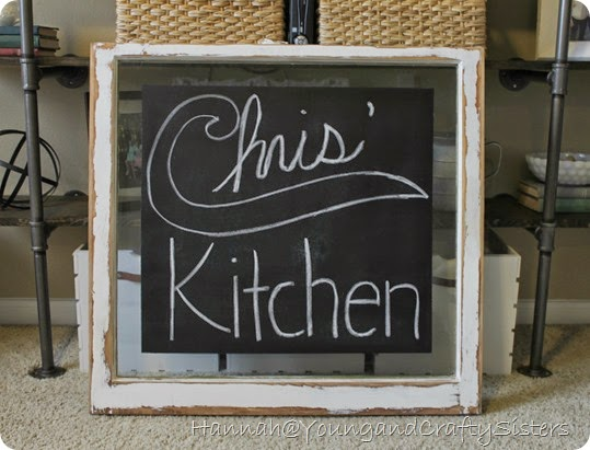 Window Pane Chalkboard 4