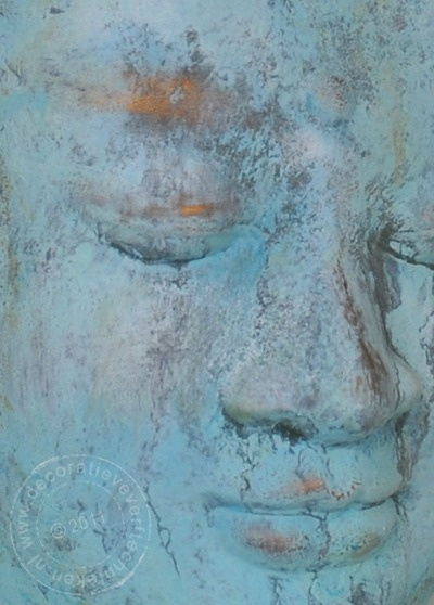 verftechnieken_Buddah_verdigris_detail