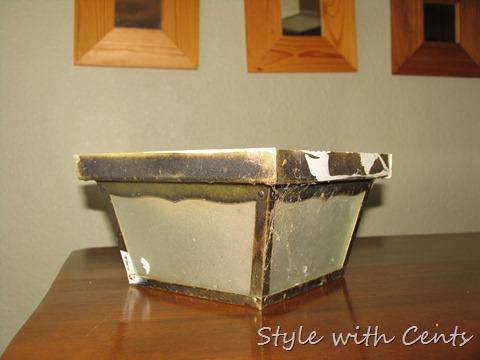 rustoleum oil rubbed bronze spray paint front porch light fixture 4