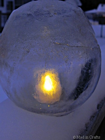 thin ice lantern at night
